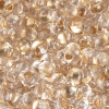 Bow Beads (Farfalle)-cut 2X4mm Crystal Bronze Lined